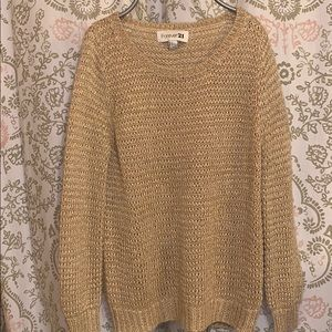 F21 Gold Knit Sweater